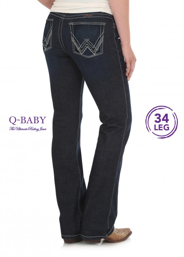 WOMENS MID RISE ULT. RIDING JEAN - Q BABY - 34 LEG