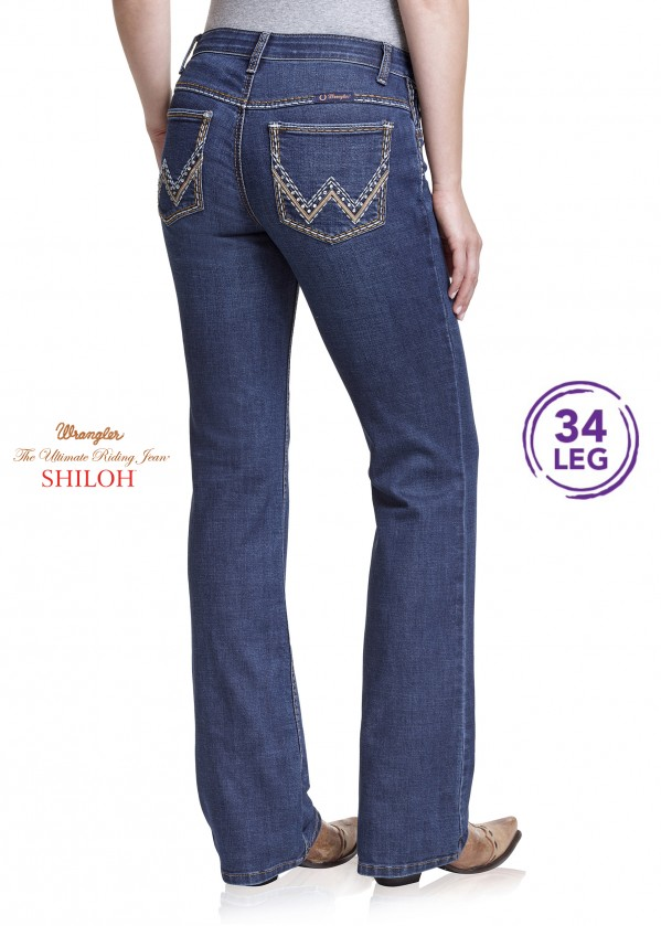 WOMENS LOW RISE BOOT CUT JEAN - SHILOH - 34 LEG