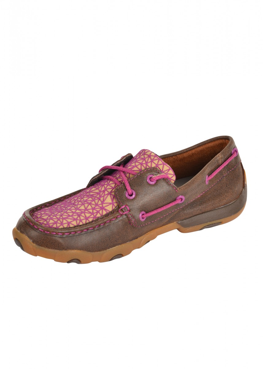 WOMENS WEB MOCS LOW LACE UP