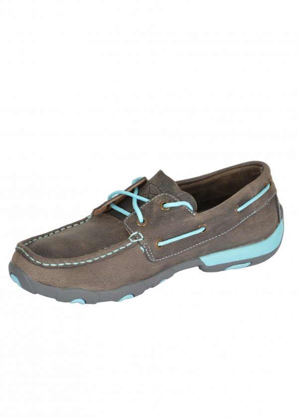 WOMENS CLASSIC SKY CONTRAST MOCS LOW LACE UP