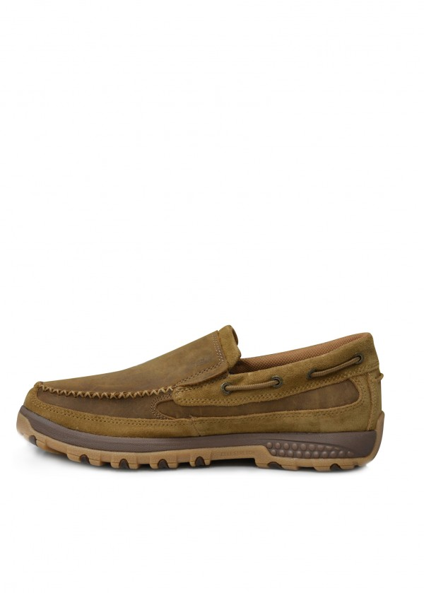 MENS CLASSIC TAN CELL STRETCH SLIP ON