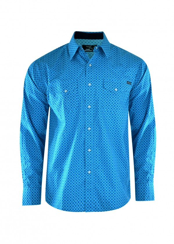 MENS DEVON PRINT L/S SHIRT