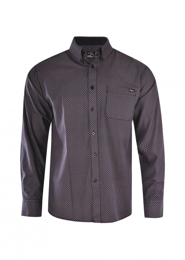 MENS BRADLEY PRINT BUTTON DOWN LS SHIRT