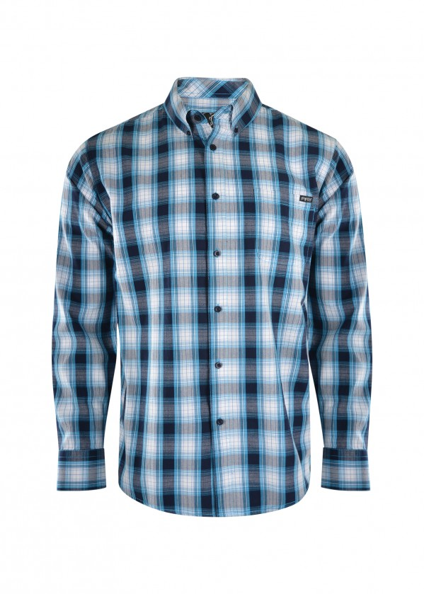 MENS NELSON CHECK BUTTON DOWN LS SHIRT