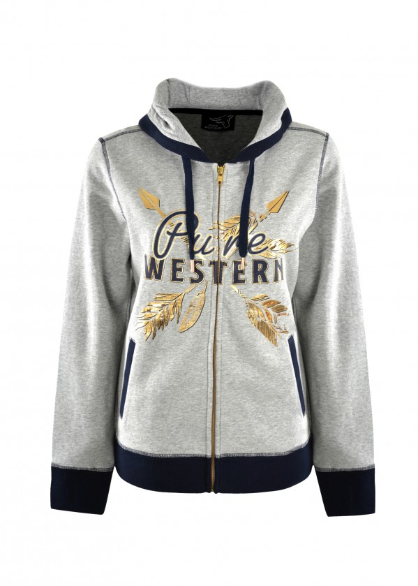 WOMENS PRISCILLA ZIP THROUGH HOODIE
