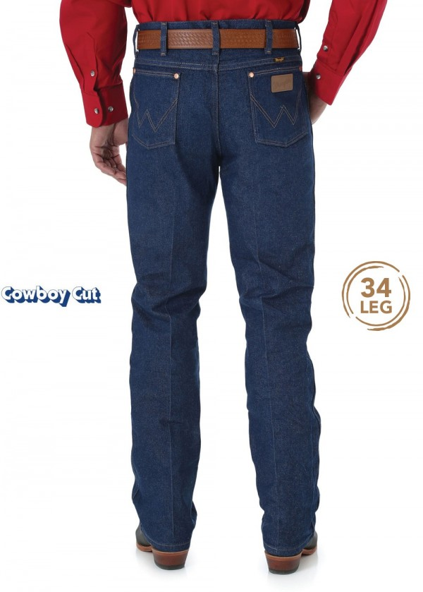 MENS COWBOY CUT SLIM FIT JEAN 34 LEG