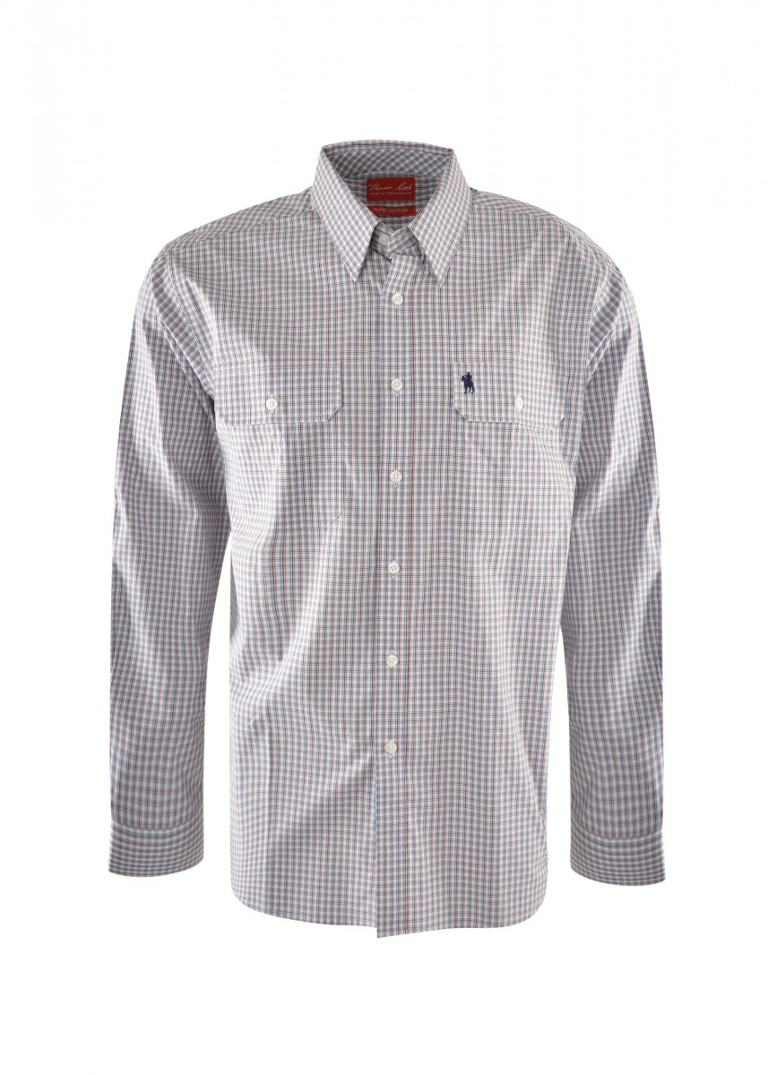 MENS CONSTABLE CHECK 2-PKT L/S SHIRT