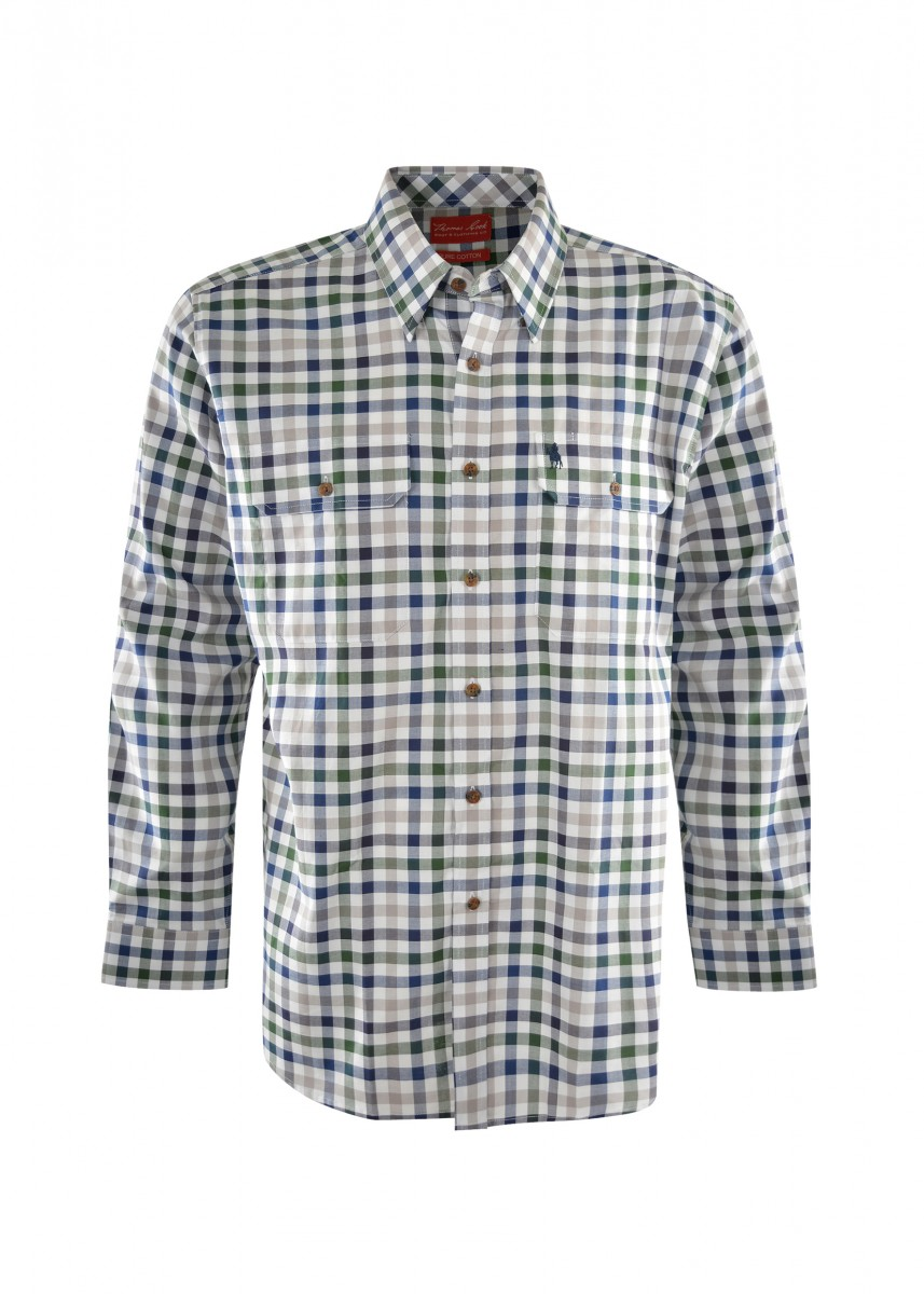 MENS HENRY CHECK 2-PKT L/S SHIRT