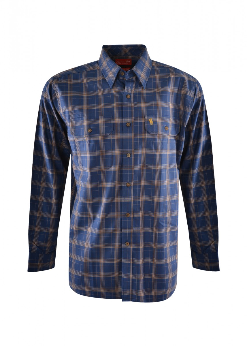 MENS GEORGE CHECK 2-PKT L/S SHIRT