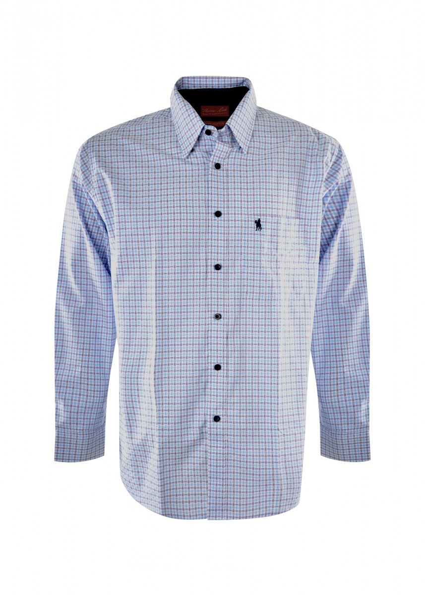 MENS CLAYTON CHECK 1-PKT L/S SHIRT