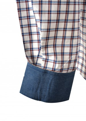 MENS BARSBY CHECK TAILORED L/S SHIRT