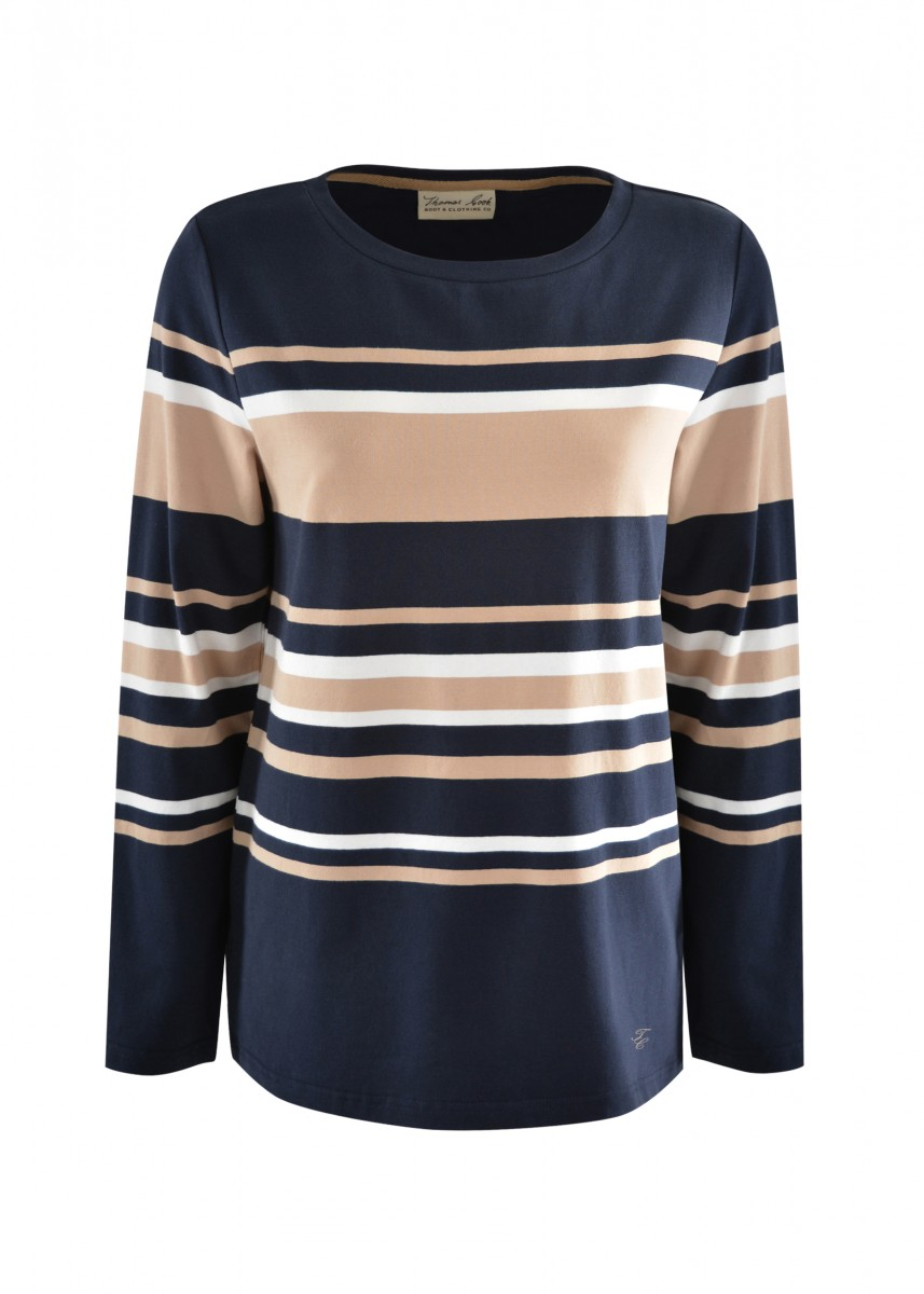WMNS GINGIN STRIPE L/S TOP