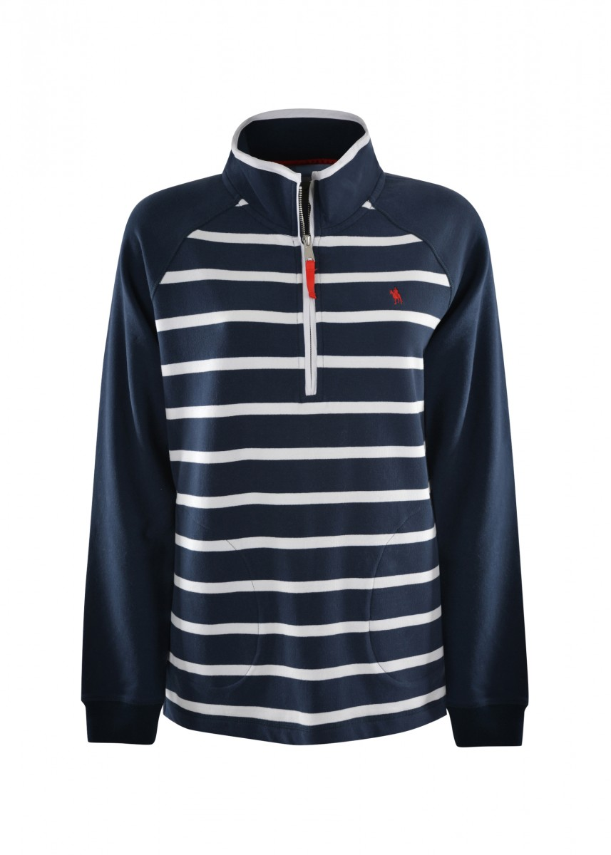 WMNS HOLBROOK STRIPE 1/4 ZIP RUGBY