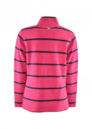 WMNS WINDSOR STRIPE 1/4 ZIP RUGBY