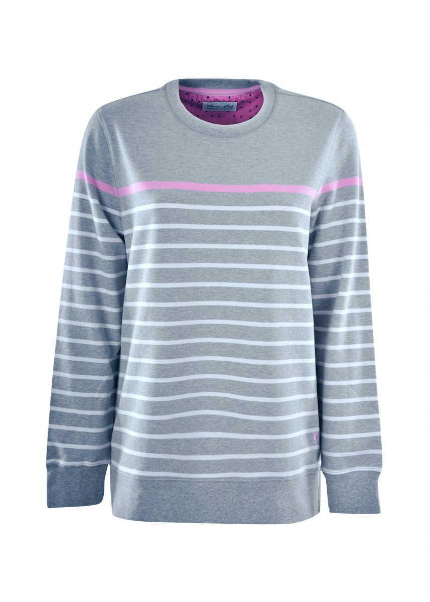 WMNS STRIPE CREW NECK L/S TOP