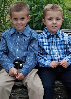 BOYS GORDON CHECK 2-PKT L/S SHIRT