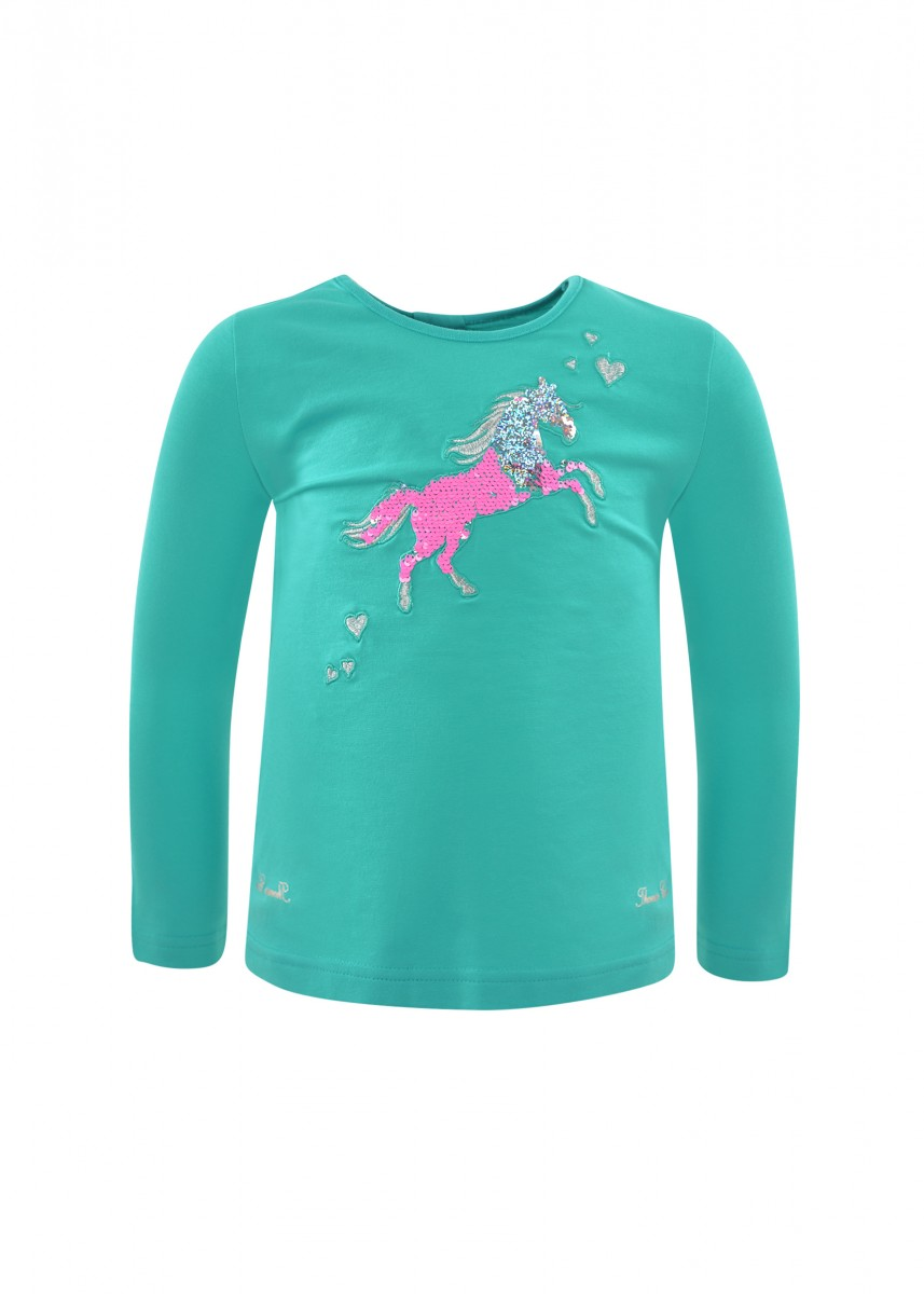 GIRLS TOBY HORSE L/S TOP