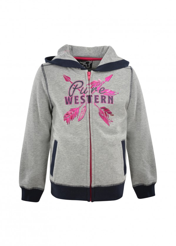 GIRLS PRISCILLA ZIP THROUGH HOODIE