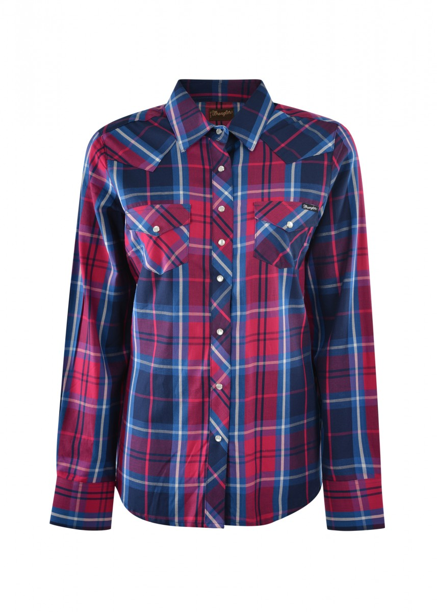 WOMENS WESTERN LORETTA CHECK L/S SHIRT