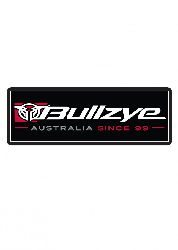 BULLZYE METAL SIGN - RED