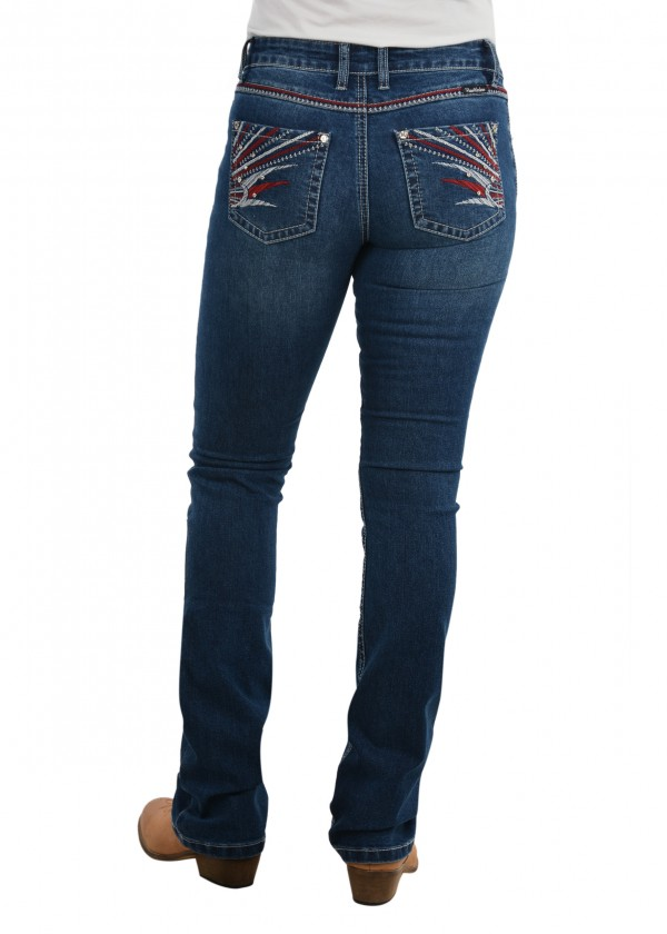 WOMENS STEPH BOOT CUT JEAN - 34 LEG