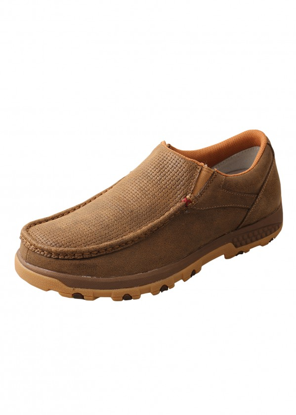 MENS WEAVE CELL STRETCH SLIP ON