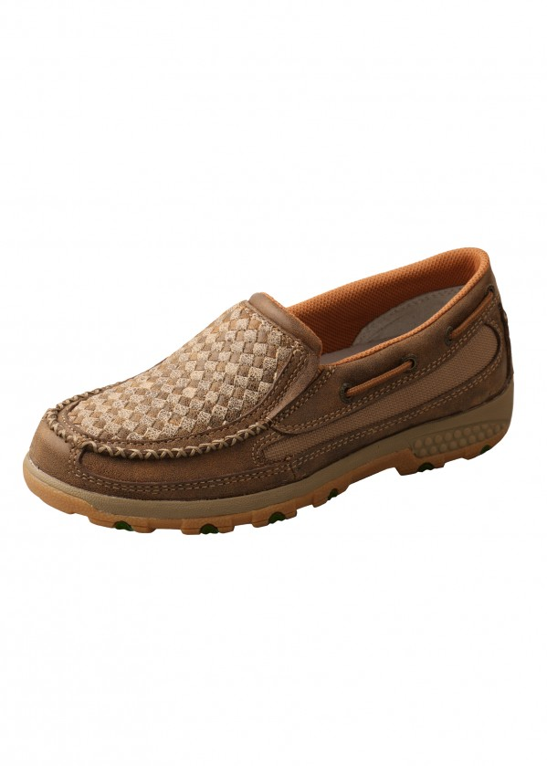 WOMENS WEAVE CELL STRETCH SLIP ON