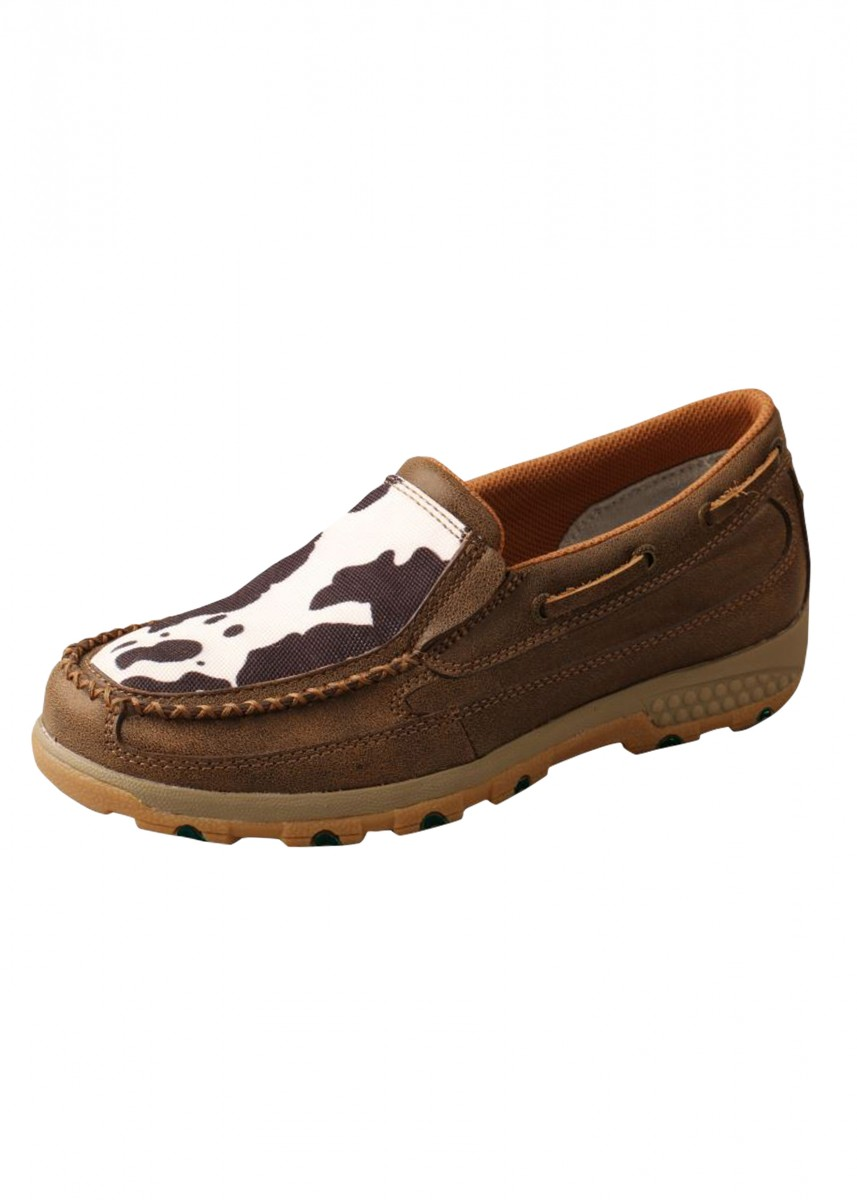 WOMENS COW CELLSTRETCH SLIP ON