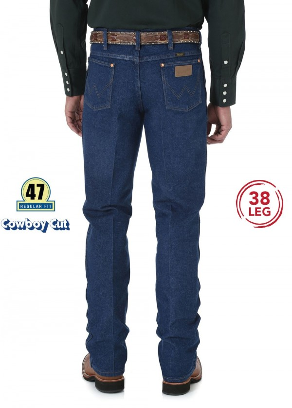 MENS COWBOY CUT SLIM FIT JEAN 38 LEG