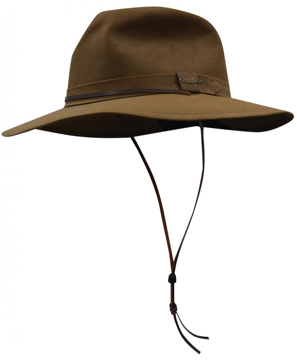 WIDE BRIM OILSKIN HAT