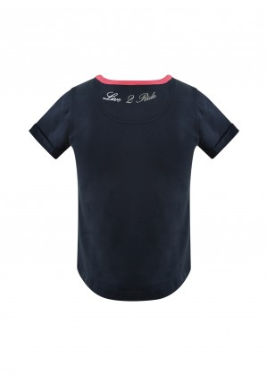 GIRLS JUMPING HORSE S/S TOP