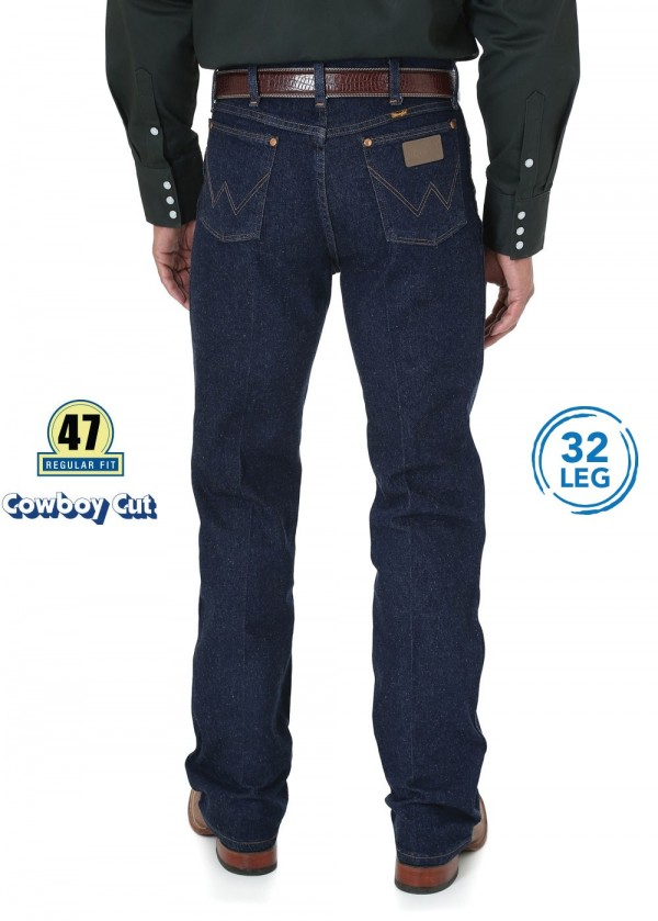 MENS COWBOY CUT STRETCH REG FIT JEAN 32 LEG
