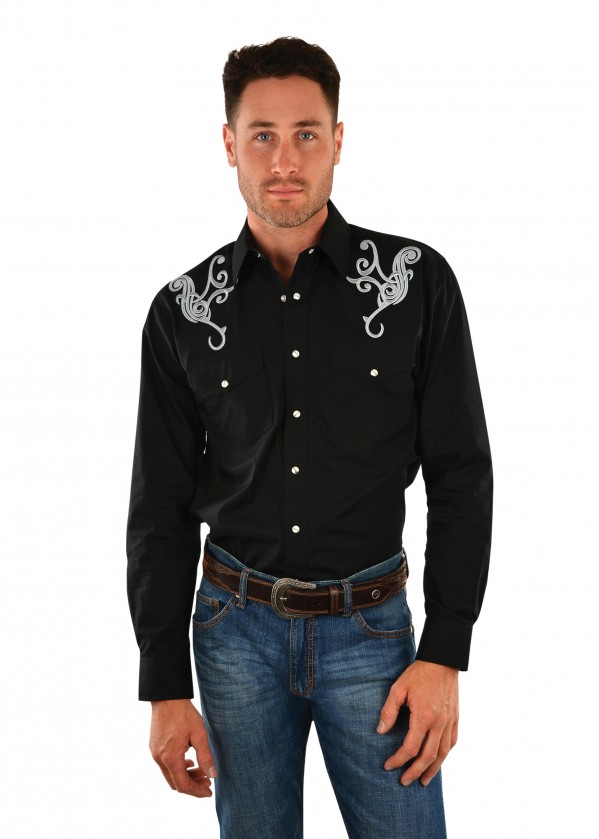 MENS JIMMY EMBROIDERED L/S SHIRT