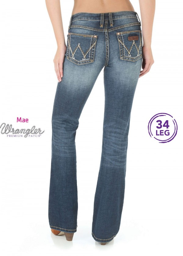 WOMENS P/PATCH SITS ABOVE HIP JEAN - MAE - 34 LEG