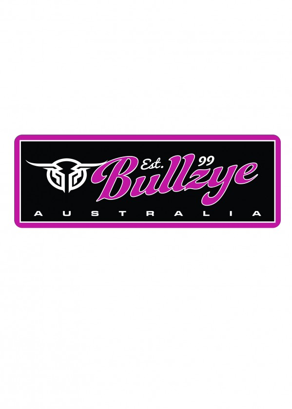 BULLZYE METAL SIGN - PINK