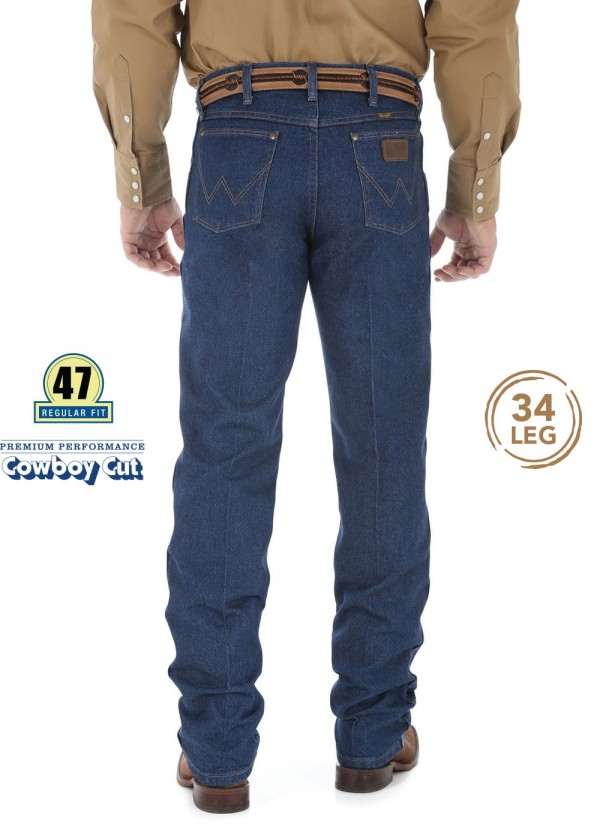 MENS PREMIUM PERFORMANCE COWBOY CUT REGULAR FIT JEAN 34 LEG