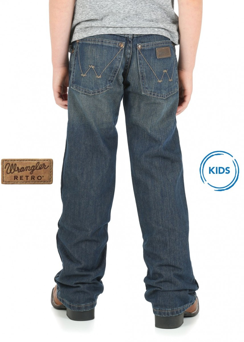 BOYS RETRO WESTERN RELAXED BOOT JEAN