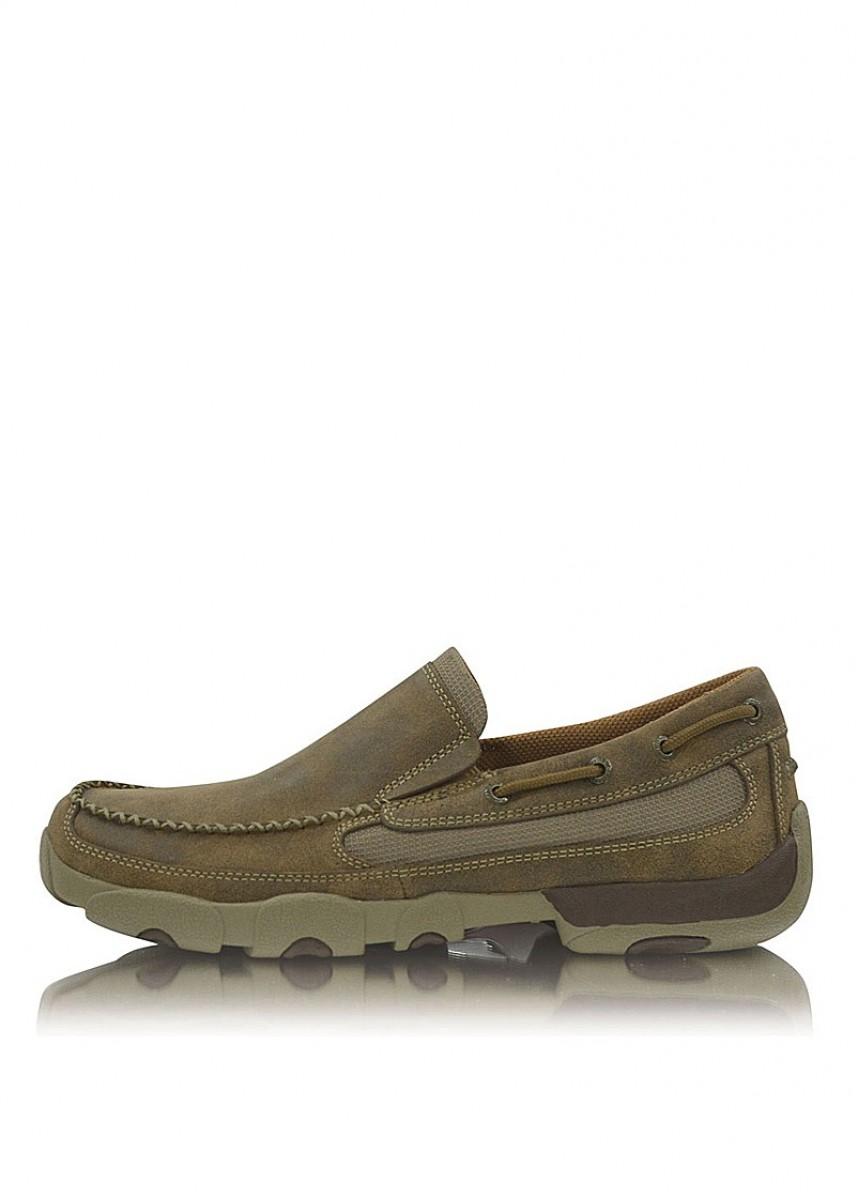 MENS CASUAL DRIVING MOCS BOAT SLIP ON