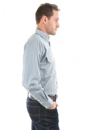 MENS WENTWORTH CHECK 2-POCKETS L/S SHIRT