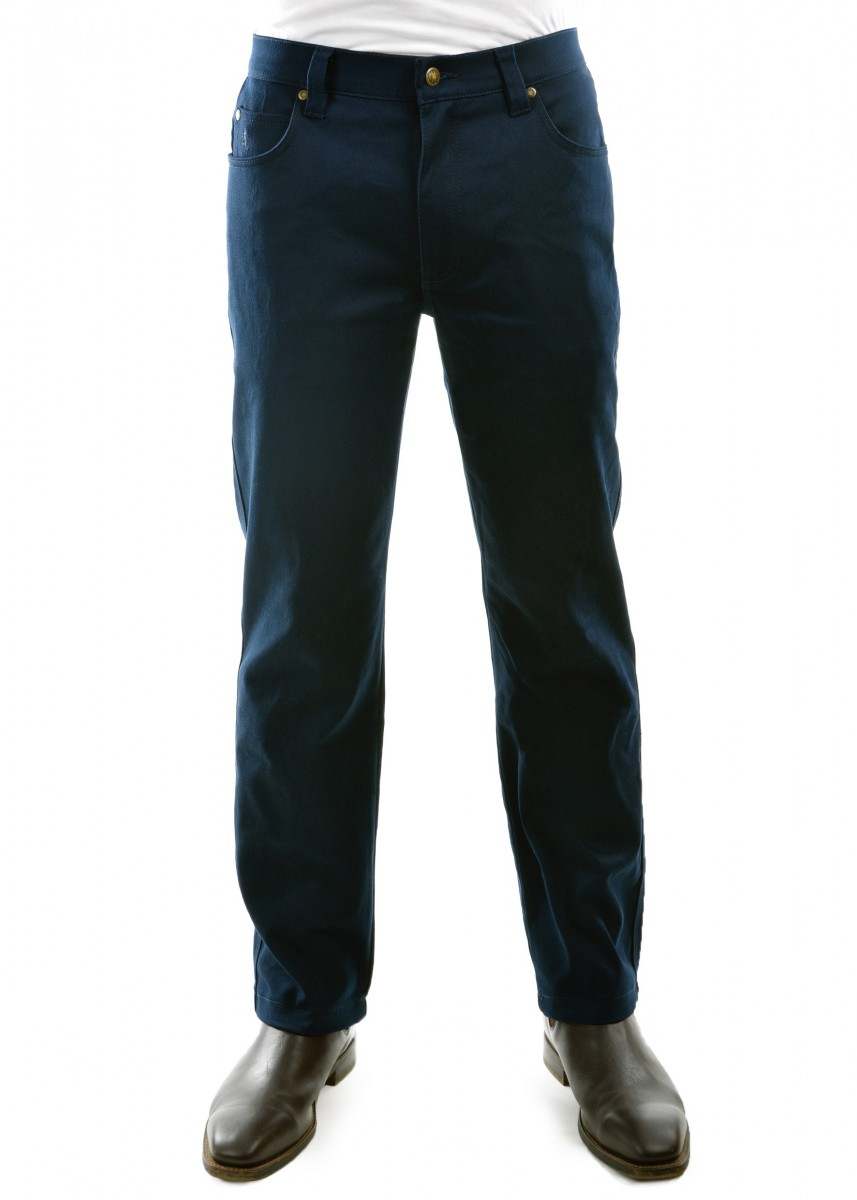 MENS STRETCH STOCKMAN COMFORT WAIST MID-REG-STRAIGHT 32 LEG