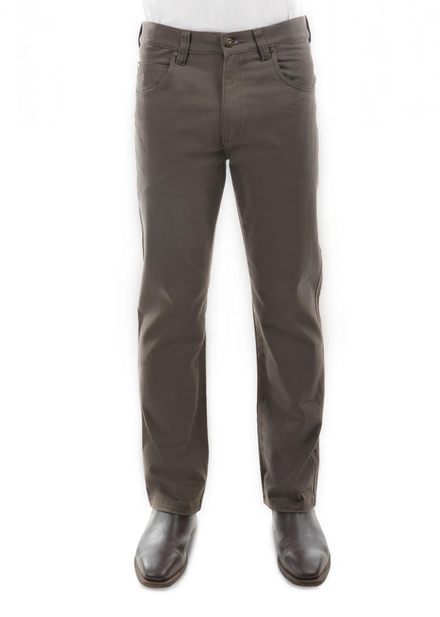 MENS STRETCH MOLESKIN COMFORT WAIST MID-REG-STRAIGHT 30 LEG