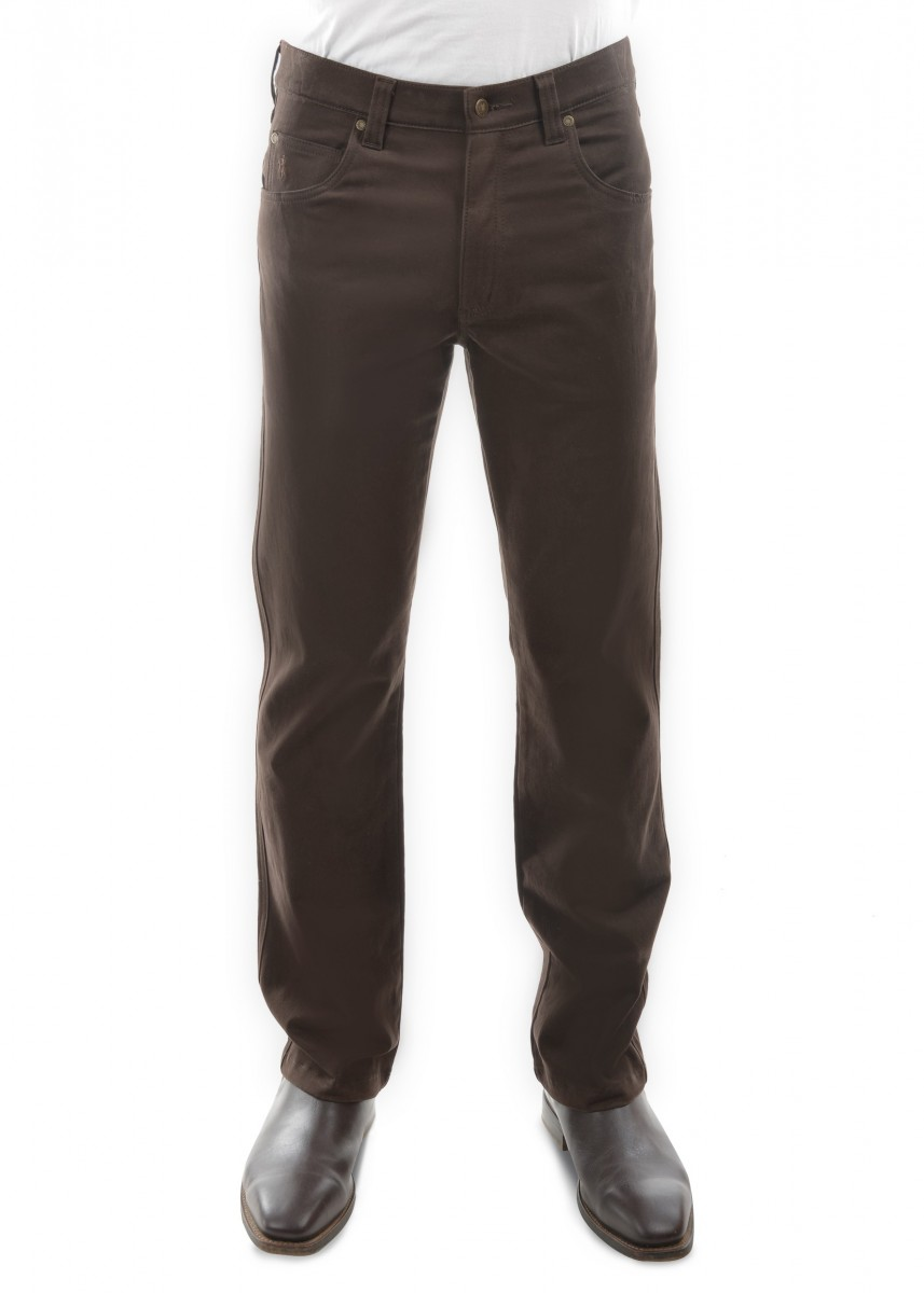 MENS STRETCH MOLESKIN COMFORT WAIST MID-REG-STRAIGHT 32 LEG