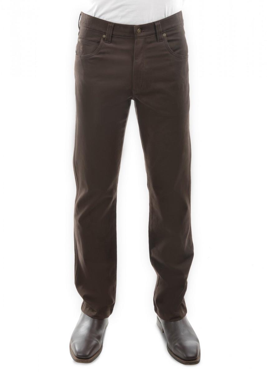 MENS STRETCH MOLESKIN COMFORT WAIST MID-REG-STRAIGHT 34 LEG