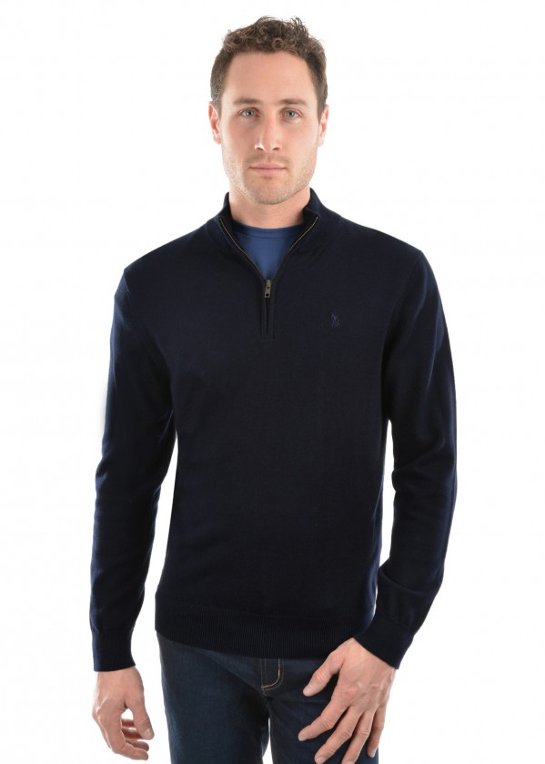 MENS LOUIE 1/4 ZIP NECK JUMPER