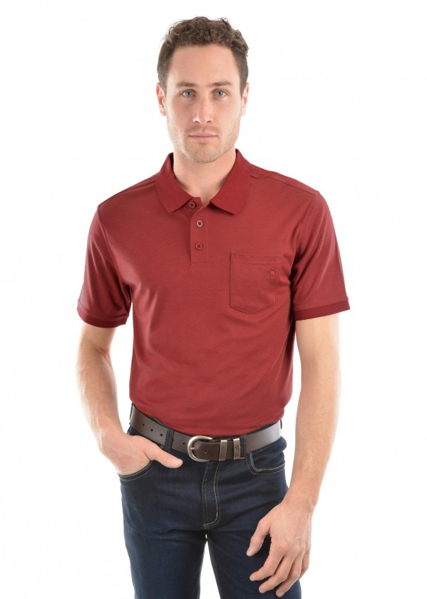 MENS BAMBOO 1-POCKET S/S POLO