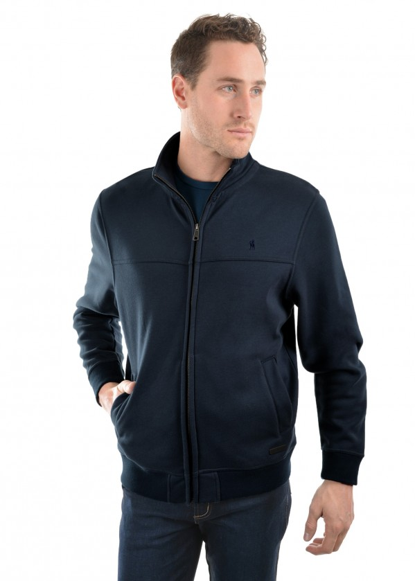 MENS ZIP THRU FLEECE JACKET