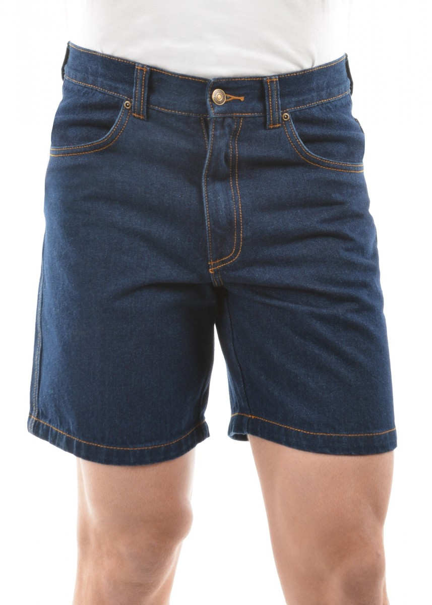 MENS STRETCH DENIM SHORT 8 INCH LEG