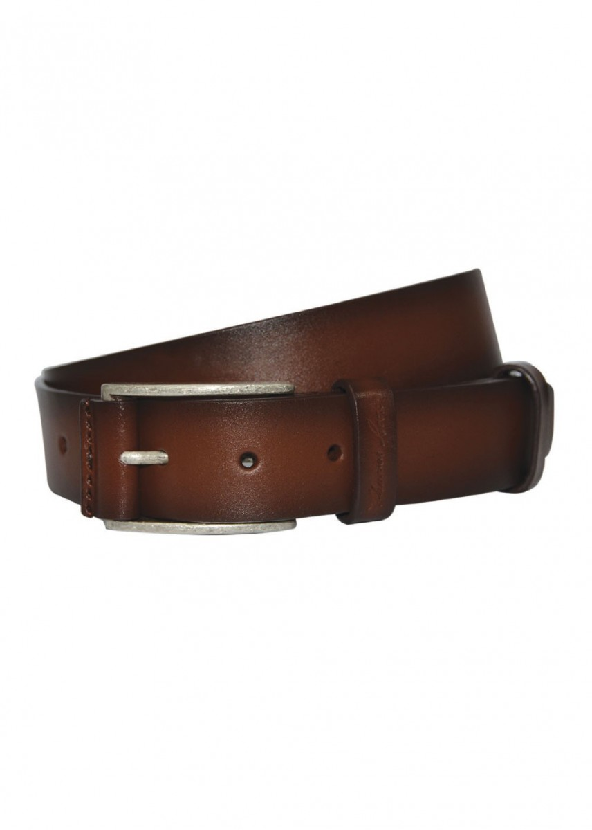 LEATHER TRIMMED BUCKLE BELT