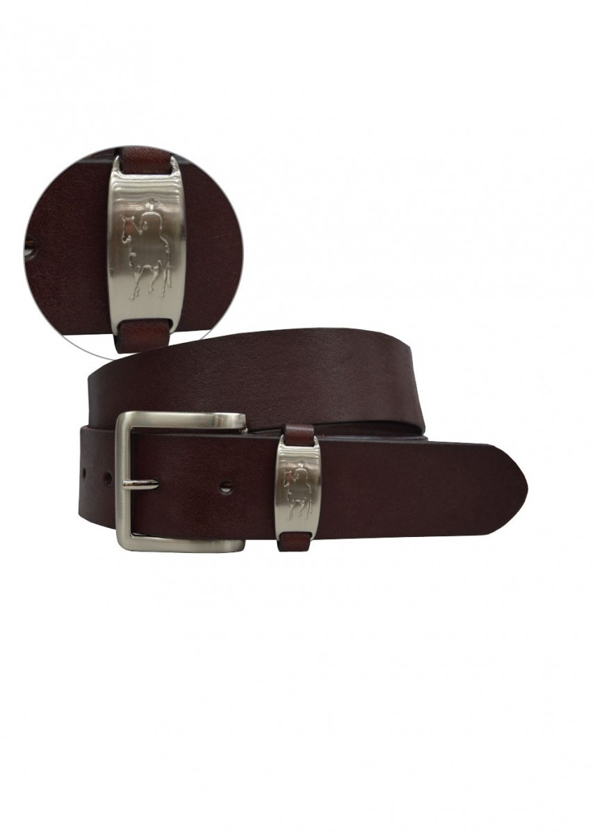 MENS HORSEMAN BADGE BELT