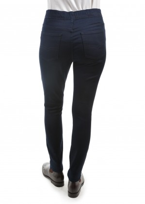 WOMENS NO FUSS PULL-ON SLIM LEG WONDER JEANS 30 LEG